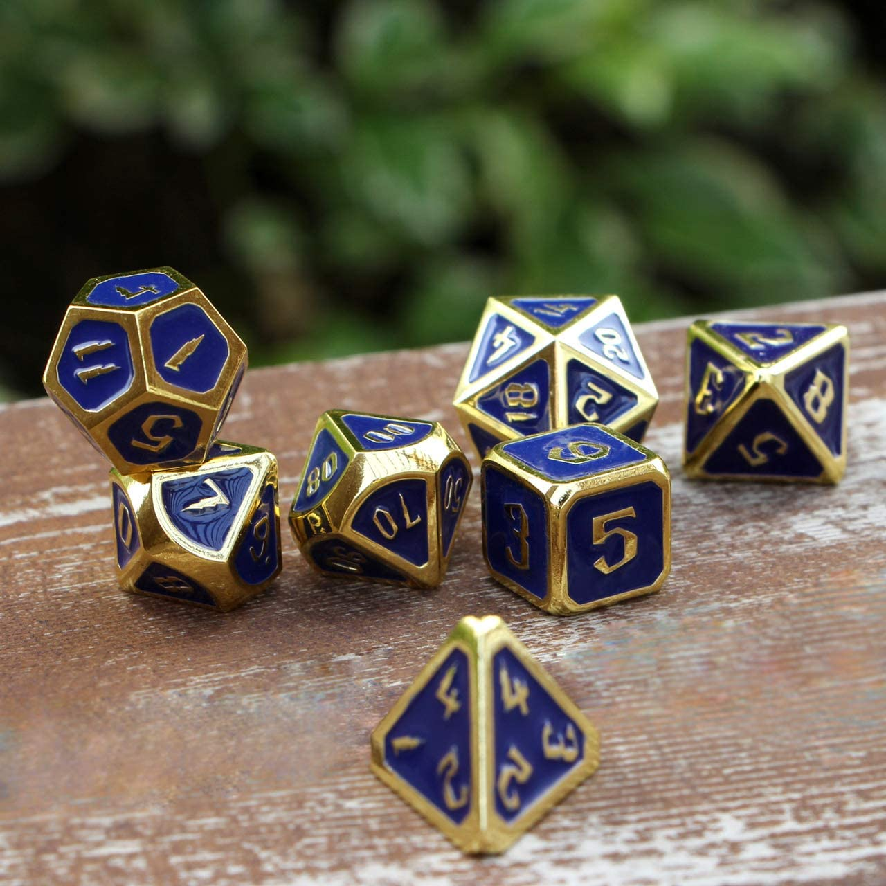 DNDWoW Color Changing Dice DND Metal RPG Red and Yellow Dice Set ...