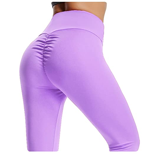 cc85413a716 YOFIT Women Tummy Control Ruched Butt Sexy Yoga Pants High Waist Depot  Workout Stretchy Leggings Trousers