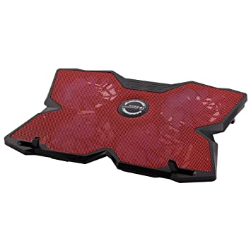 Sourcingmap - ® USB 2.0 4 Ventiladores Base portátil silencioso Radiador de refrigeración Rojo W Soporte para portátil Ordenador portátil Autorizado por ...