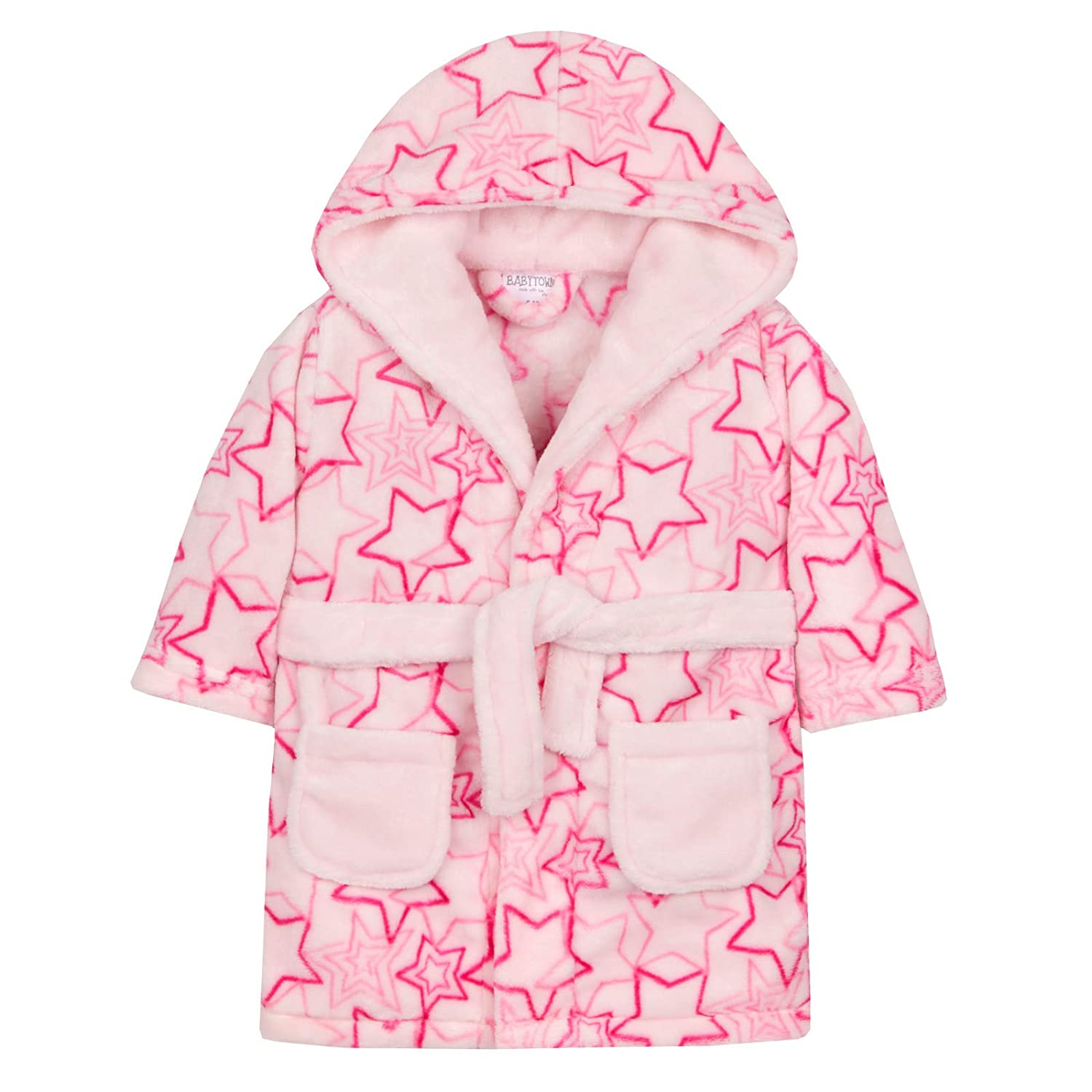 Lora Dora Baby Girls Pink Star Dressing Gown Shoe Directory LB101551