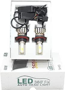 LED Head Light Set, Measuring H13 7A 360, Bright White