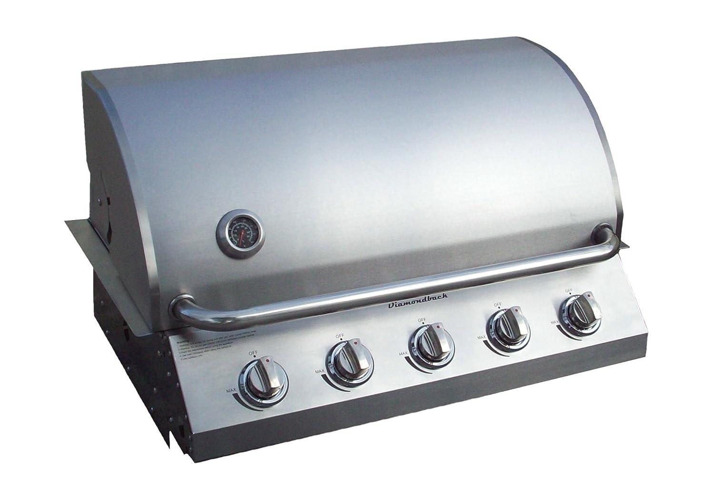 "Diamondback Built-In Grill 5 Burner Propane LP Natural Gas 32"" Drop Stainless NG"