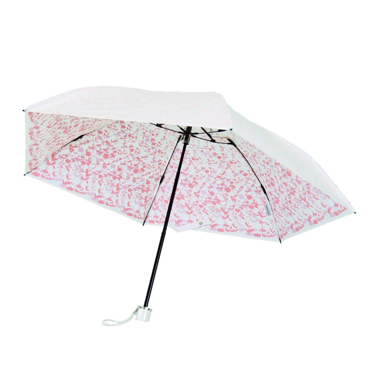 プレミアム ホワイト 折りたたみ傘 手開き 遮光 遮熱 日傘/晴雨兼用傘 リエール 全3色 ピンク 6本骨 50cm UVカット 99% 以上 軽量 コンパクト 3935PK B06W2FYTBS