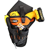 Melo Tough Tradesman Pro Drill Pouch Made of 1680D Ballistic Weave, Drill Holster with Magnetic Buckle Inside (Lift Hand…