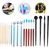 ARTISTORE Clay Tools Pottery Modeling Tools 18pcs Clay Sculpting Modeling Set for Pottery Sculpture, Mandala Rock Art, Polymer Clay & Ceramic Pottery Craft, Embossing Pattern