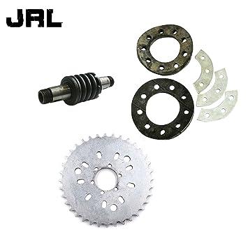 jrl dientes piñón y eje de embrague para 66/80cc Motor de 2 tiempos motorizado bicicleta: Amazon.es: Coche y moto