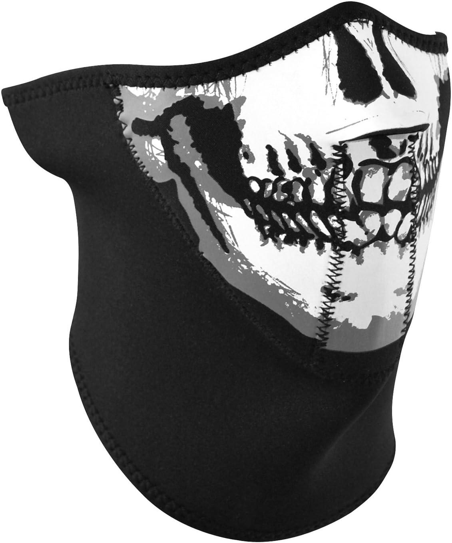 Zan Headgear Oversize Black Neoprene Half Face Mask Motorcycle Snowboarding Ski