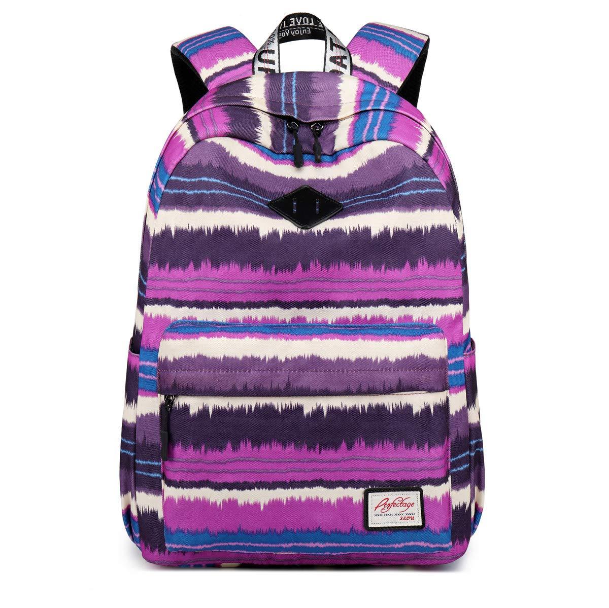 Purple School Bag For Girls Oxford Waterproof Leisure Backpack Large Capacity Double Shoulder Bag,bluee