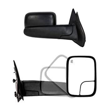 Power Heated Flip Up Towing Mirrors pair For 2002-08 Ram 1500 2003-09 2500 3500