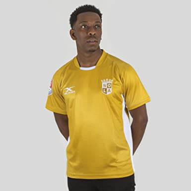 33bf6e4a668 X Blades New Orleans Gold MLR 2018 Home S/S Rugby Shirt - Gold/White - Size  XXL: Amazon.co.uk: Clothing