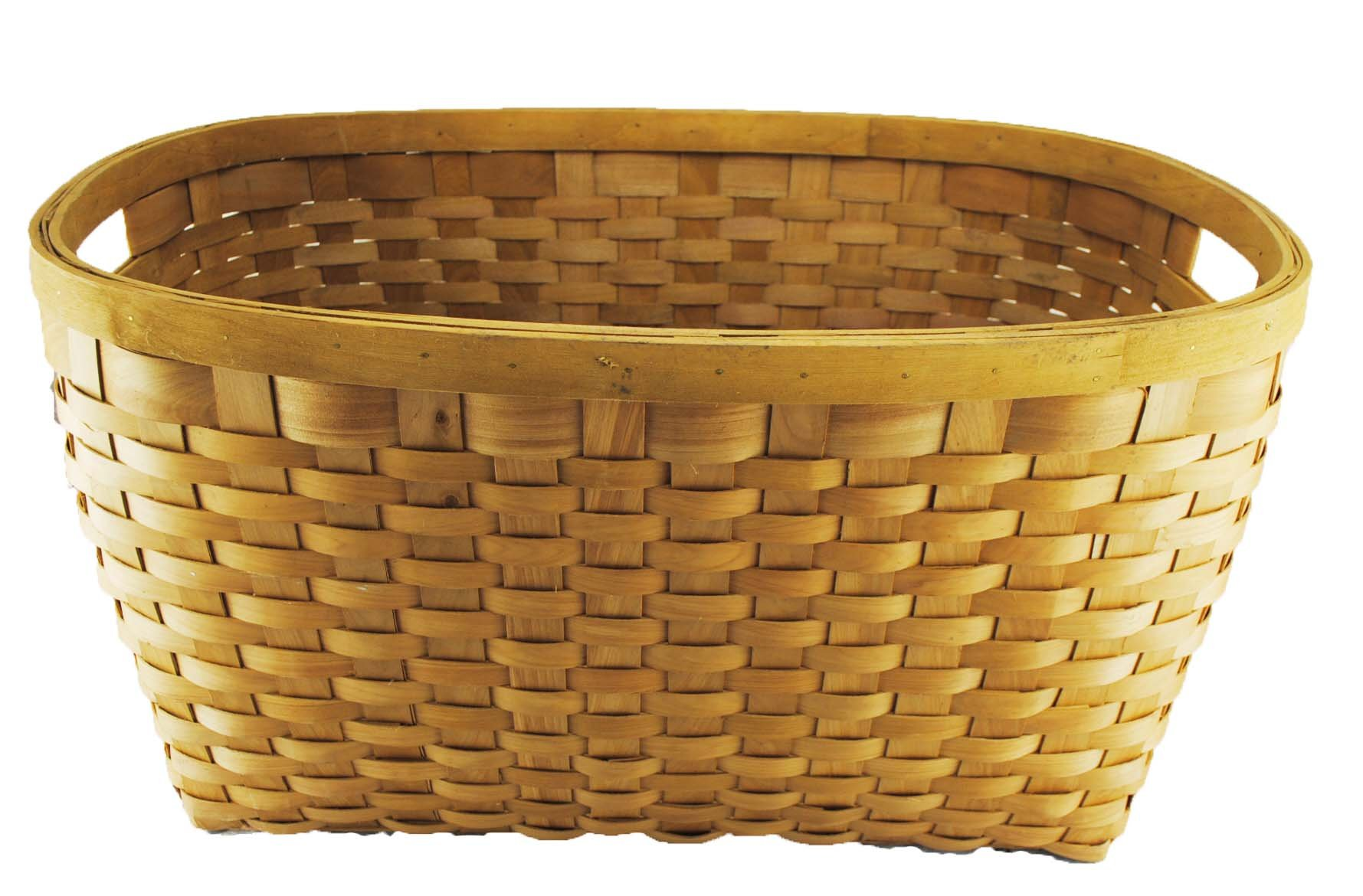 TOPOT Jambo Set of 3 Wood chip Laundry Storage Baskets in Honey Brown Color by TopherTrading (Image #2)