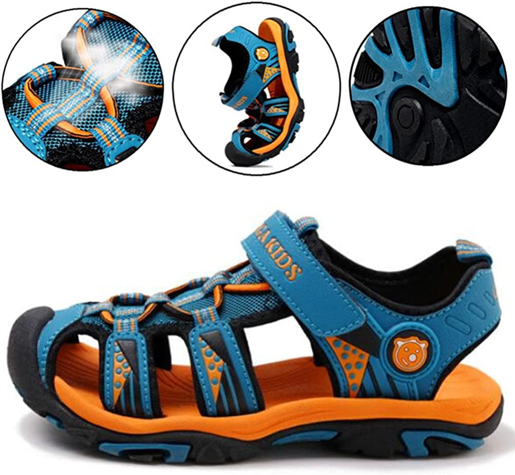 Toddler//Little Kid//Big Kid DADAWEN Boys Girls Outdoor Athletic Strap Breathable Closed-Toe Water Sandals