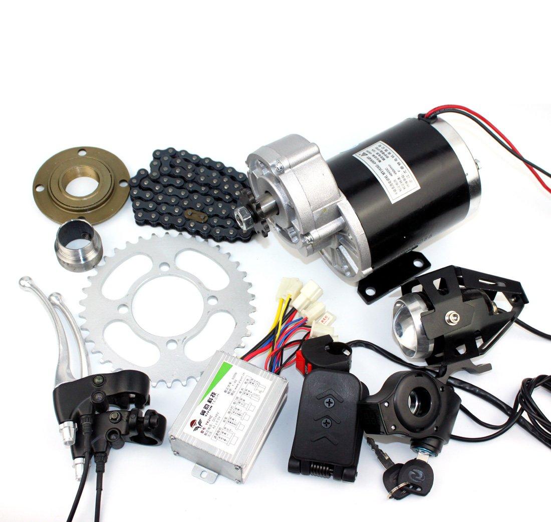 24v36v48v 450ワット電動三輪車変換キット電動トライクギアモーター電動人力車キットmy1020z 450ワット起毛ギアモーター B07F2CHG1M 36V pedal kit 36V pedal kit