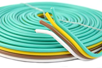 flat trailer light cable wiring harness 25ft 14 gauge 4 wire 4 colors Pop Up Camper Wiring Harness