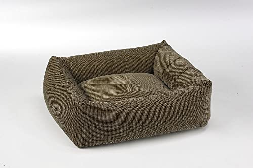 Bowsers Dutchie Dog Bed, Microvelvet Houndstooth, X-Large 40 x36