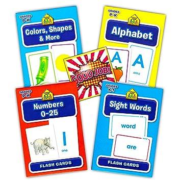 4b0ed781f Buy School Zone Flash Cards Super Set Toddler Kids -- 4 Packs (ABC Flash  Cards
