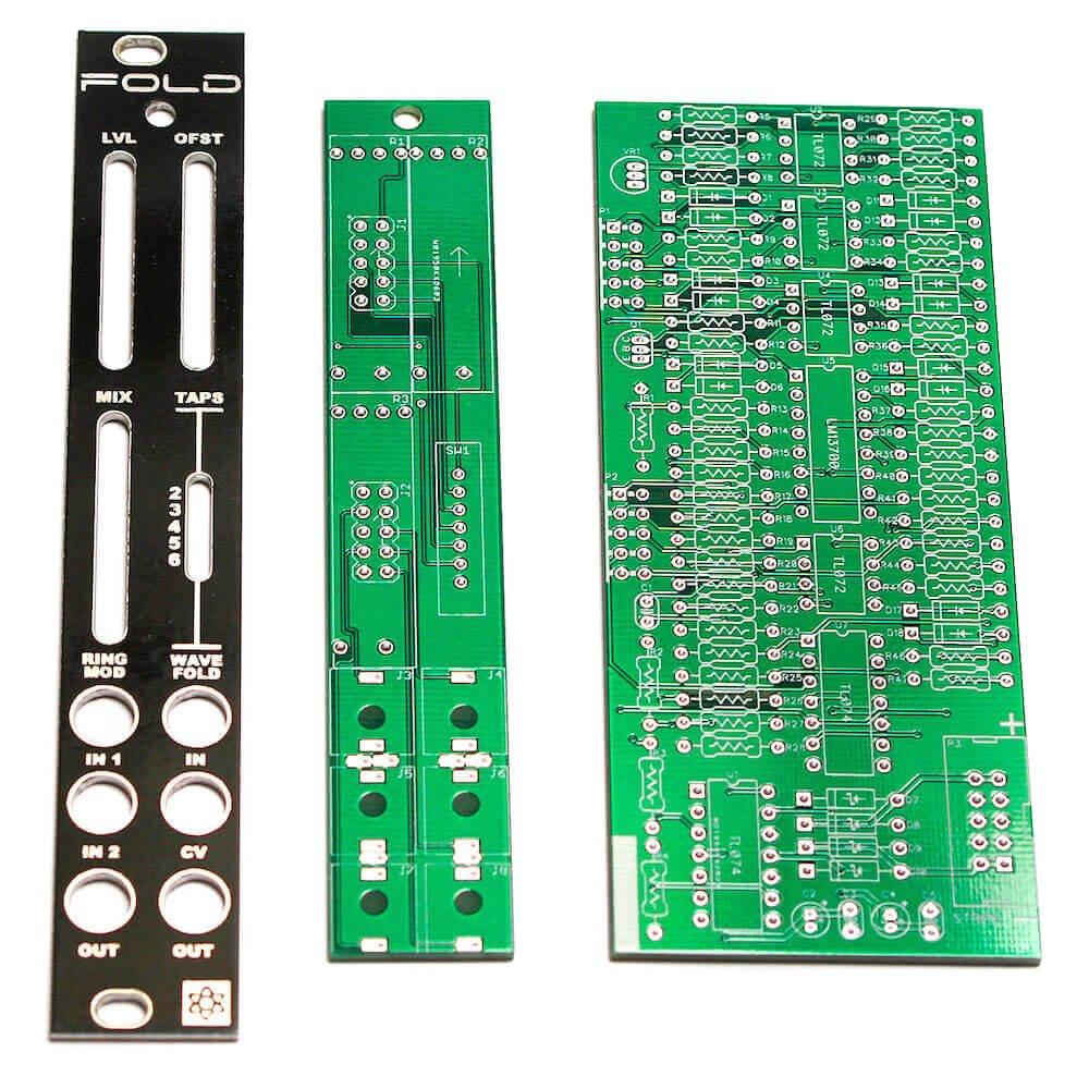 Synthrotek FOLD PCBs and Panel - Wavefolder/Ring Mod Eurorack Module