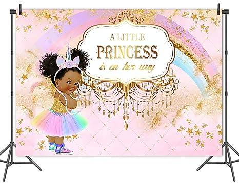 Amazon Com Mehofoto Unicorn Princess Baby Shower Backdrop Pink