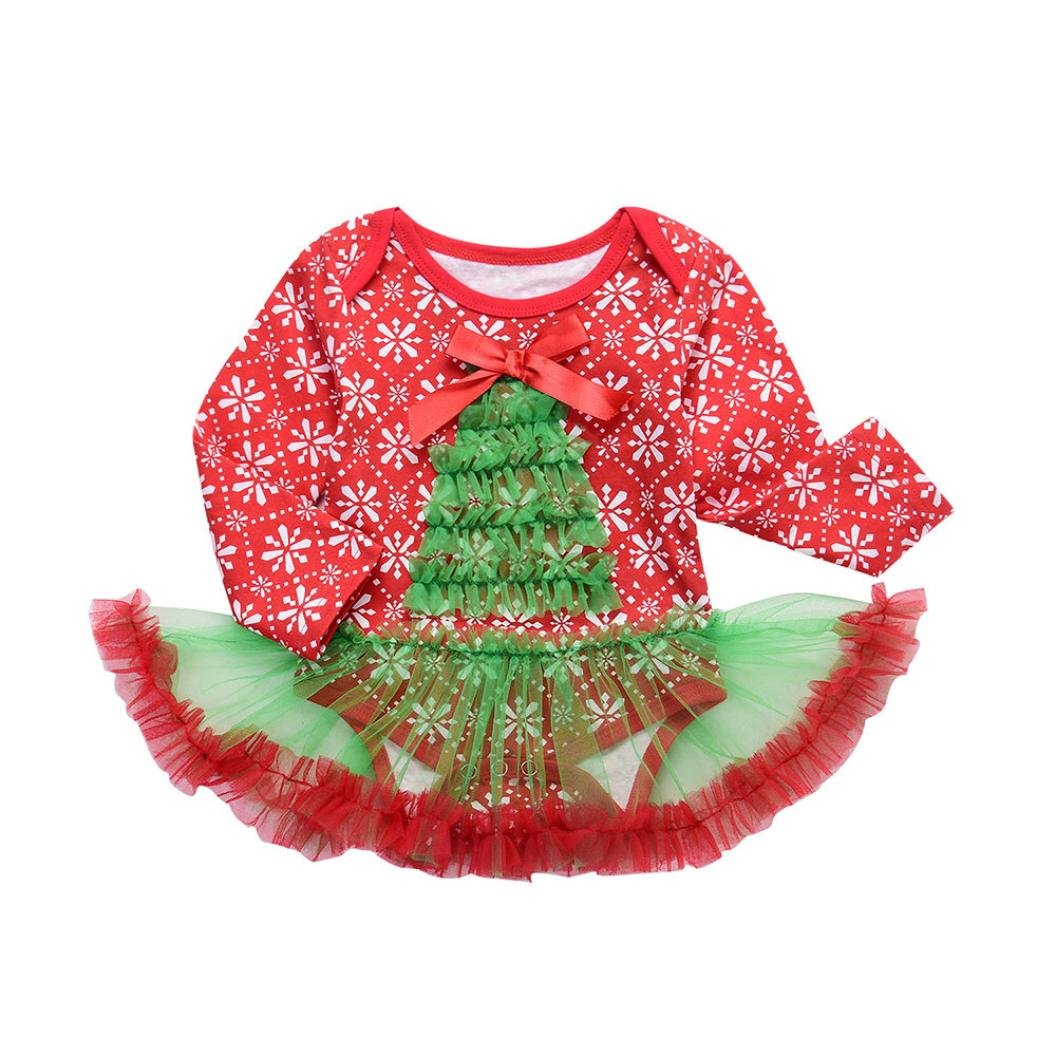 Perman 1PCS Newborn Baby Girls Christmas Romper Tutu Dress Outfits PM-1023
