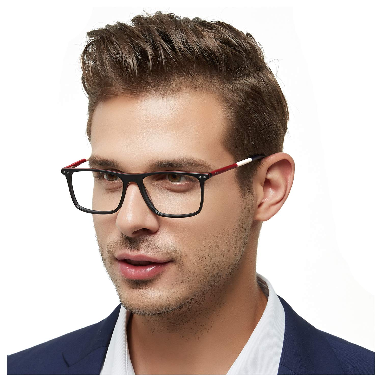 Optical Men's Eyewear Classic Non-prescription Eyeglasses ATENE-C1