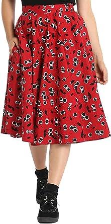Hell Bunny Mujer Alison 50s Falda Circular: Amazon.es: Ropa y ...