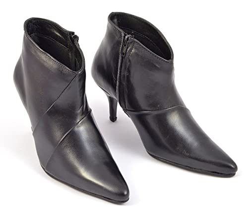 0a756581d4b7 Paradise Lifestyle Womens Black Pointed Toe Ankle High Boots Style ...