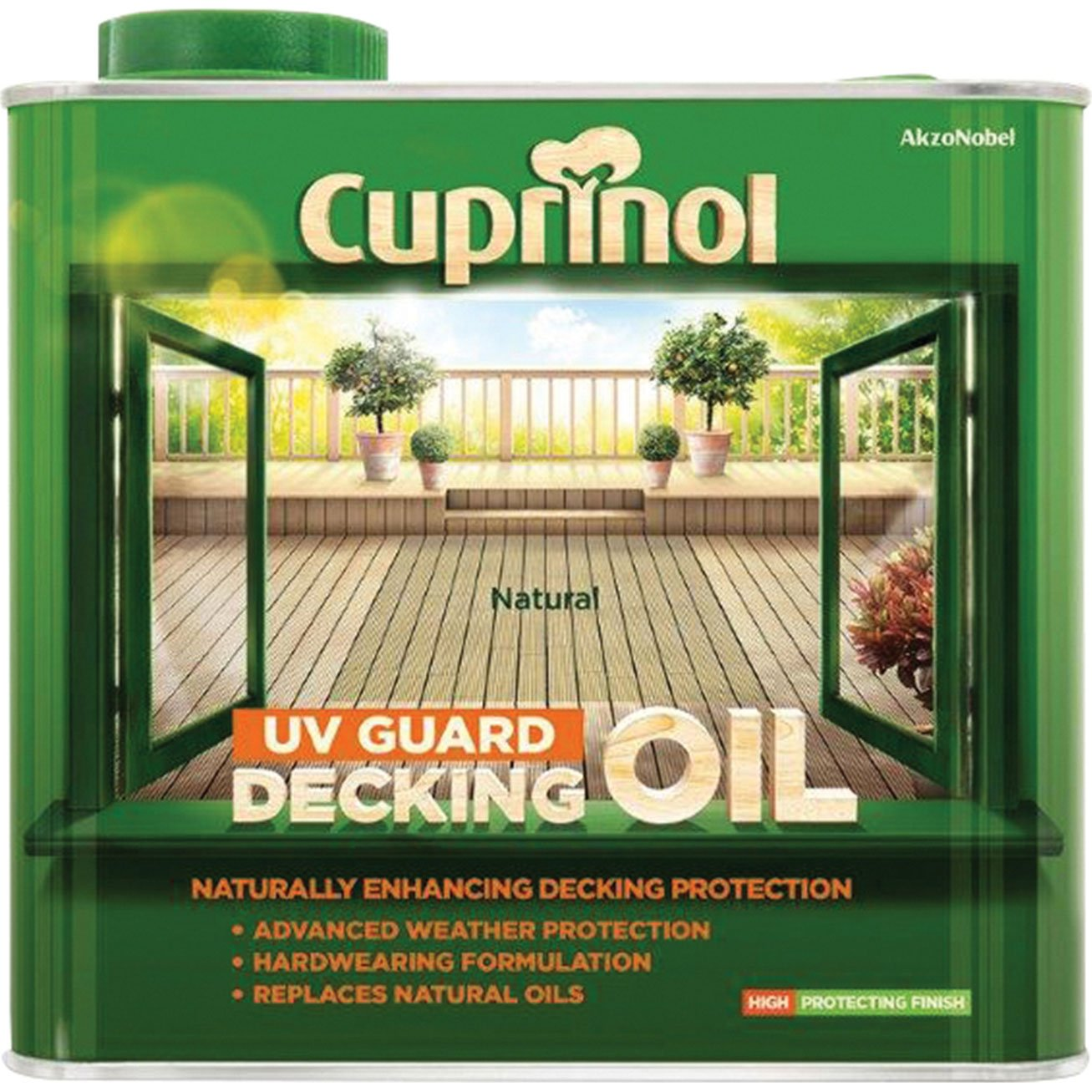 Cuprinol UV Guard Decking Oil Natural 5L