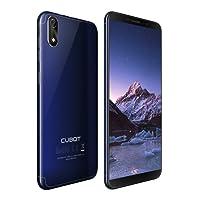 Cubot J3 Dual-SIM Smartphone (12,63 cm (5 Zoll) Full-Wide VGA TN Touch-Display,16GB interner Speicher, Android 8.1 Oreo(Go Edition) Handy Ohne Vertrag, Face ID, GPS/A-GPS) (Blau)