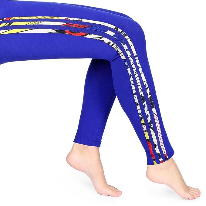 d58a7c1554bd7 adidas Originals Womens Womens Rita Ora Super Logo Leggings in Blue ...