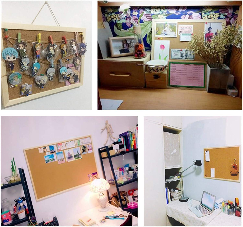 Anniup corda ufficio 20 x 30 cm scuola bacheca in sughero pareti incorniciate bacheca con spinta biglietto bacheca in sughero bacheca per messaggi e promemoria per casa