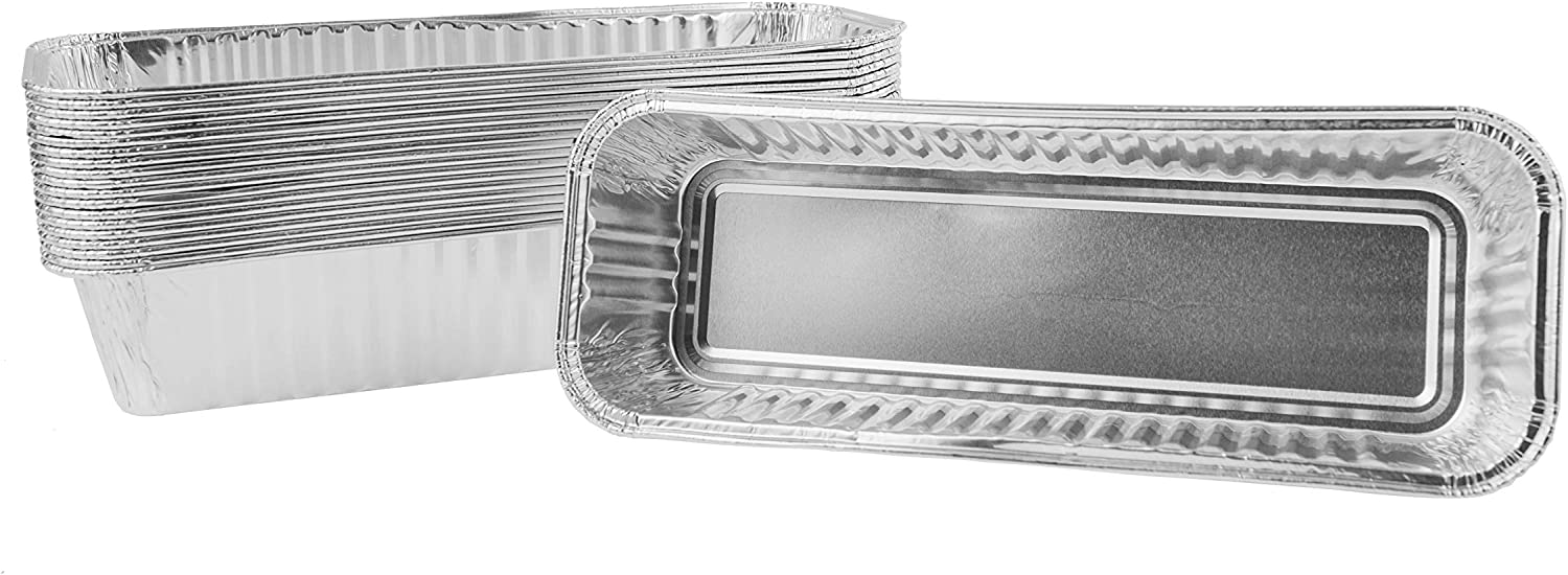EasiBBQ Aluminum Foil Grill Drip Pans for Camp Chef Portable Grill, Disposable Aluminum Grease Pan Liners, 20 Pack