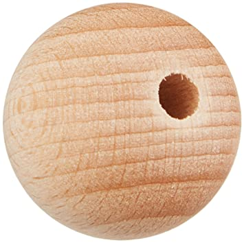 Buche Holzkugel 24,5 mm Ø mit Halbbohrung Kugeln