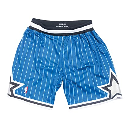 6d5de3cbf65 Image Unavailable. Image not available for. Color  Mitchell   Ness Orlando  Magic NBA Men s 1994-95 Alternate Blue Authentic Shorts