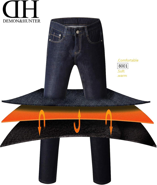 Demon/&Hunter 802 Straight Series Hombre Pantalones Vaqueros Recto Jeans