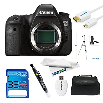 Amazon.com : Canon EOS 6D 20.2MP Full Frame CMOS Sensor Full HD ...