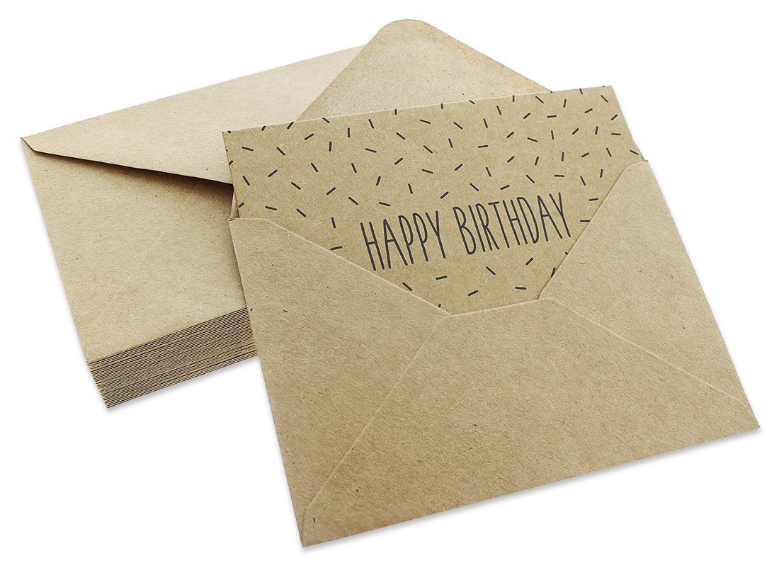 36 Pack Assorted All Occasion Kraft Greeting Cards - Includes Assorted Happy Birthday, Congratulations, Sympathy, Thank You Cards - Bulk Box Set Variety Pack with Envelopes Included - 4 x 6 inches by Best Paper Greetings (Image #5)
