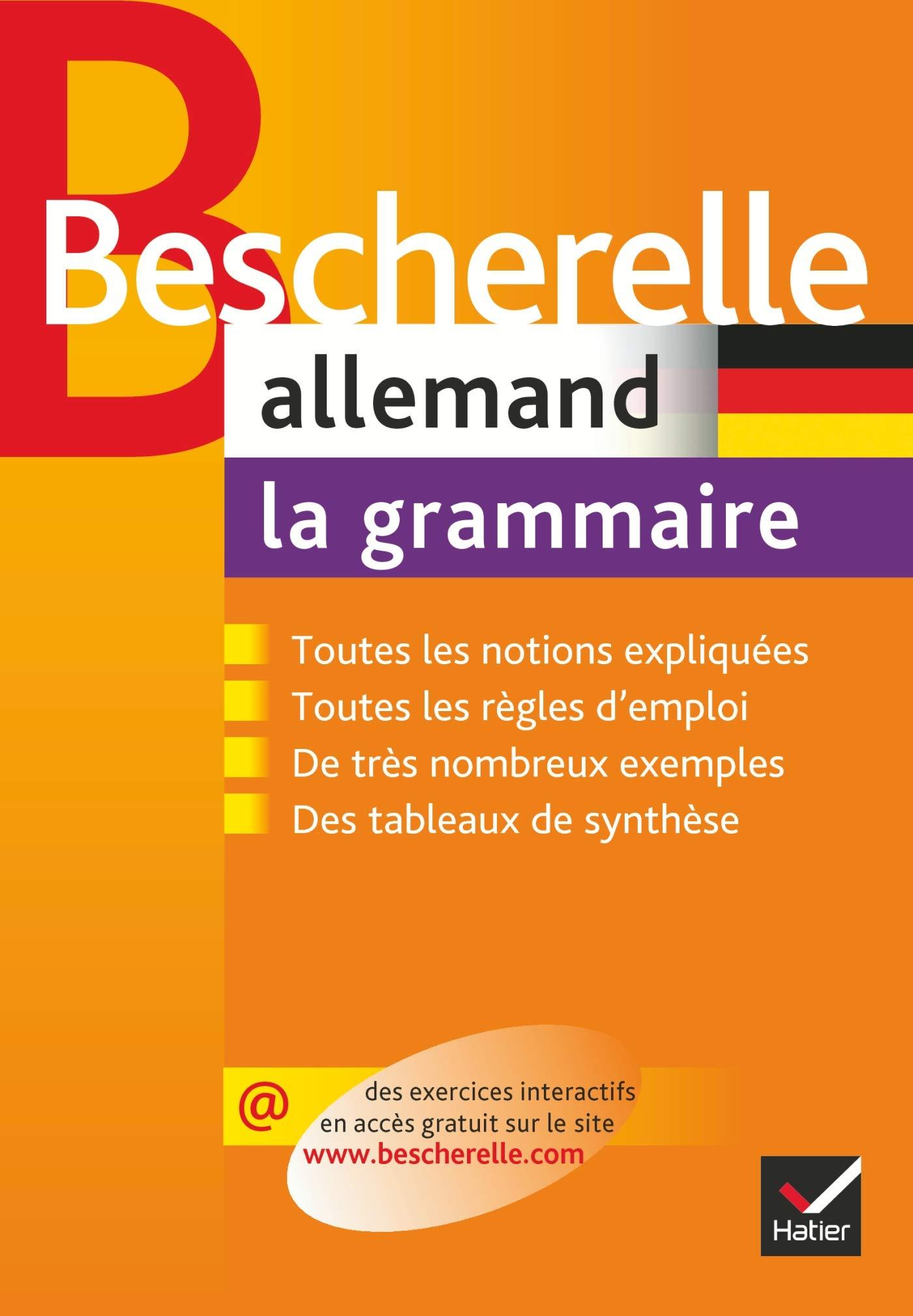 Amazon Fr Bescherelle Allemand La Grammaire Ouvrage De Reference Sur La Grammaire Allemande Cauquil Gerard Schanen Francois Livres