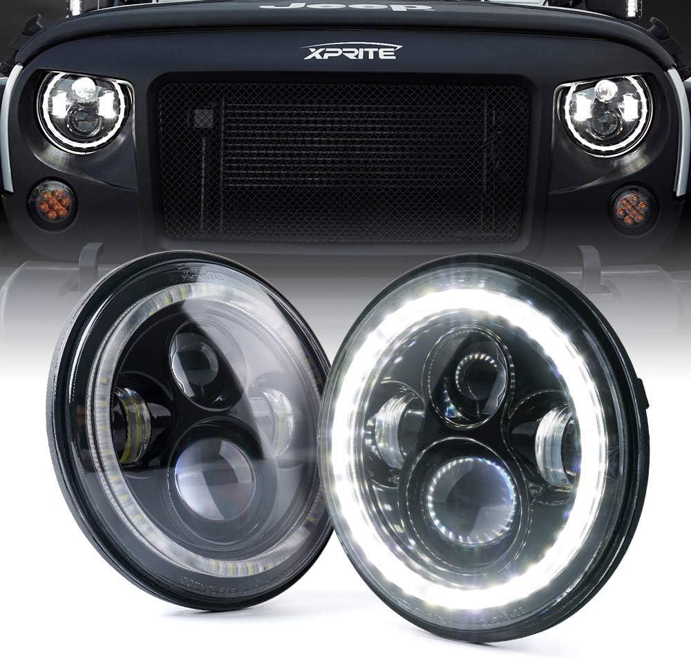 "DOT 7/""inch Round CREE LED Headlight Hi-Lo DRL For Jeep Wrangler JK LJ TJ CJ 1PC"