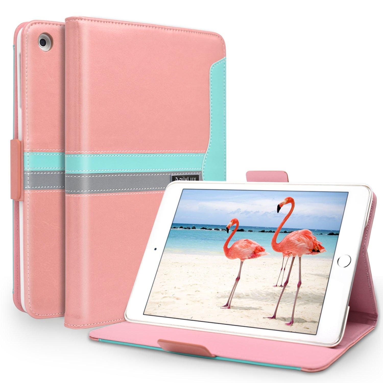 iPad Mini Case, Dailylux iPad Mini 1/2 / 3 Case 360 Degree Rotating Stand Case Cover with Auto Sleep/Wake Feature for Apple iPad Mini 1 / iPad Mini 2 / iPad Mini 3 Flower Series, Pink TA0041-02-US