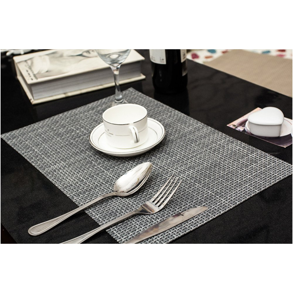 placemats zupro 4 pack insulation non slip pvc weave placemats