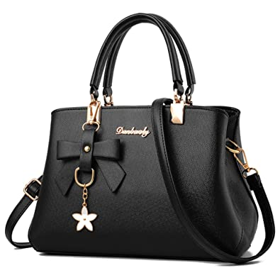 ab0c89492b86 Barwell Women Top Handle Handbags Shoulder Bag PU Leather Tote Bags  Amazon. co.uk  Shoes   Bags
