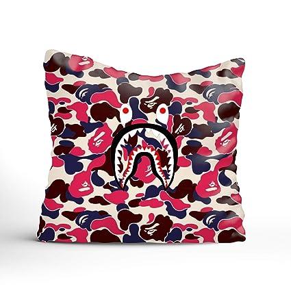 971bde29 Amazon.com: Throw Pillow Covers Bape Shark Color Decorative ...