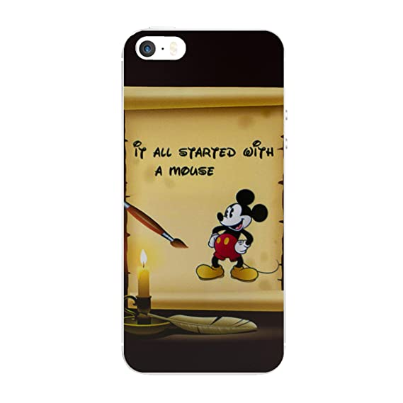 on sale 8d142 c3339 iPhone 5/5s Disney Quote Silicone Phone Case/Gel Cover for Apple iPhone 5s  5 SE/Screen Protector & Cloth/iCHOOSE/Started