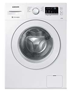 Samsung 6 kg Fully-Automatic Front Loading Washing Machine (WW60M206LMW/TL, White,...
