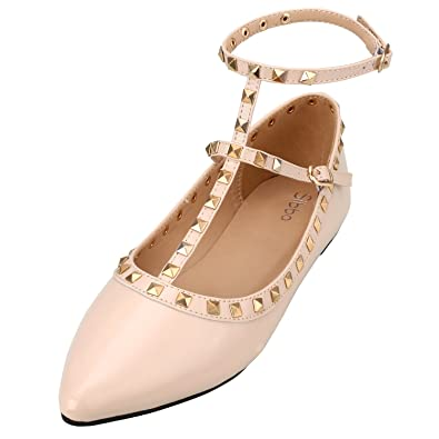 a36b386729 WOMENS BALLET PUMPS FLATS SHOES LADIES GIRLS COMFORTABLE BALLERINAS FAUX  LEATHER size 4 - 8 (