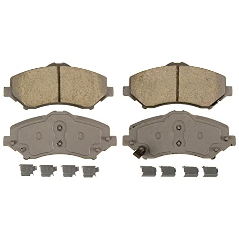 Wagner ThermoQuiet QC1273 Ceramic Disc Pad Set With Installation Hardware,  Front