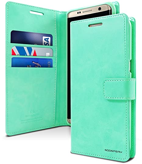 info for 4380d ca946 GOOSPERY Galaxy S8 Case for Samsung Galaxy S8, [Drop Protection] Blue Moon  [Wallet Case] PU Leather with Shock Absorbing TPU Casing [ID Card & Cash ...