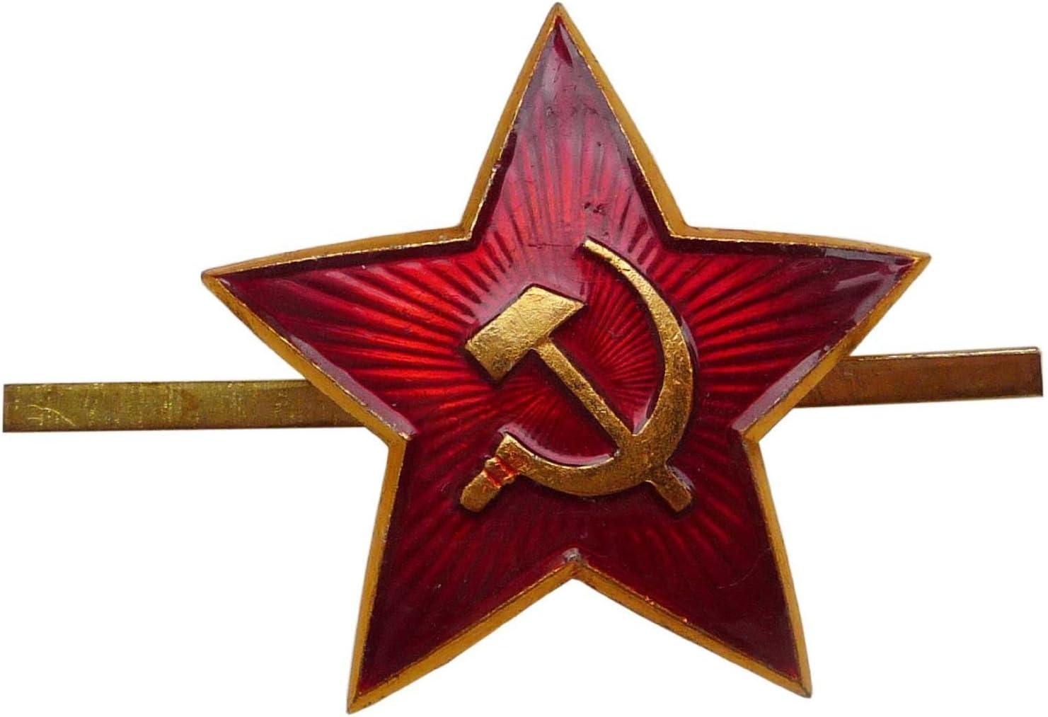 Gris Homme Russe sovi/étique Arm/ée Militaire Fourrure Cosaque Ouchanka Chapeau Gris /étoile Rouge M//58