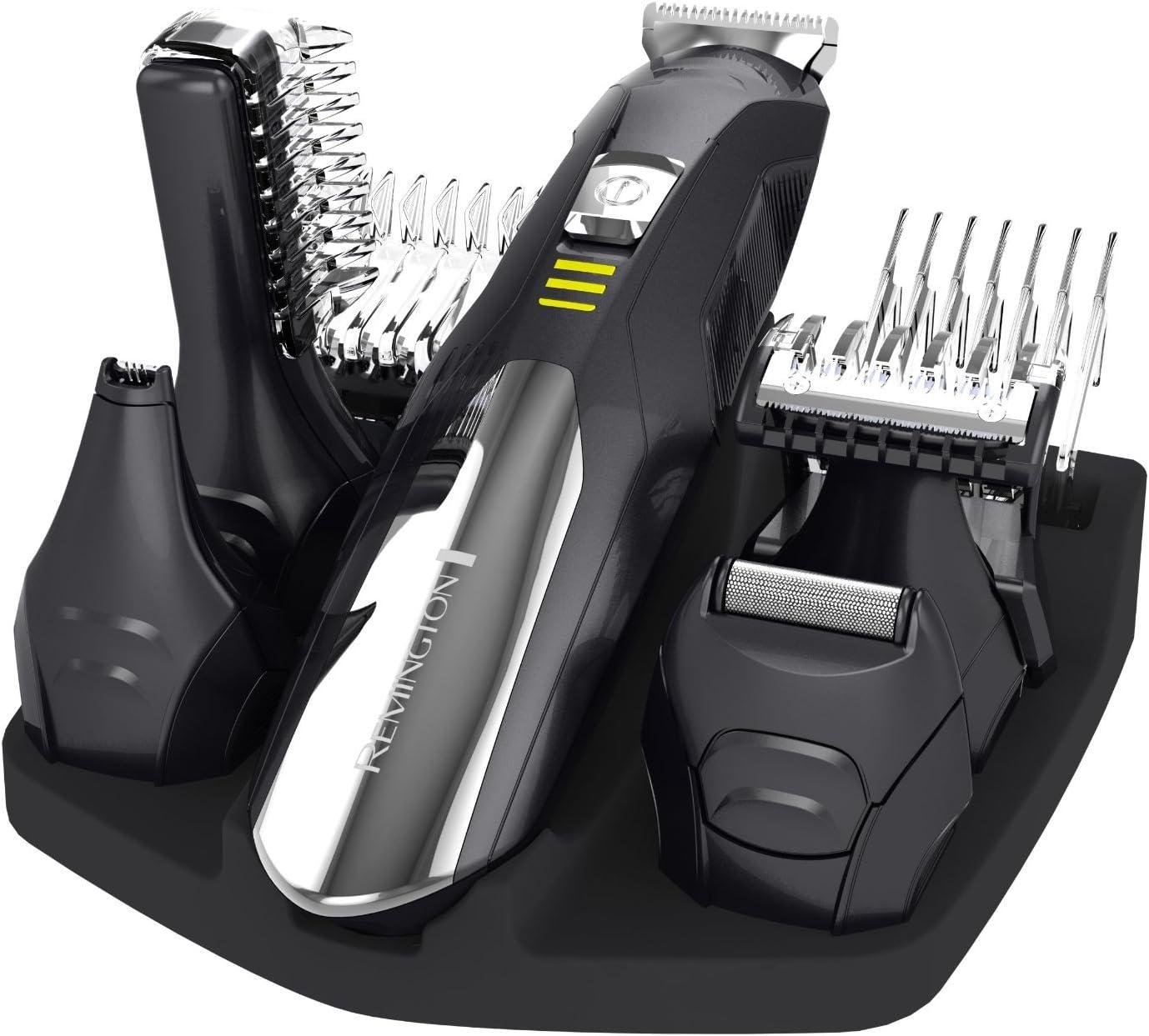 Remington Lithium Power - Kit multifunción 9 en 1, cuchillas de acero inoxidable, 4 peines, 5 cabezales: Amazon.es: Salud y cuidado personal