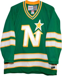 Amazon.com   Vintage North Stars Road Green 1988-1991 Jersey ... f8b7c8cca4b